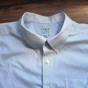LL Bean Wrinkle-Free Oxford Dress Shirt